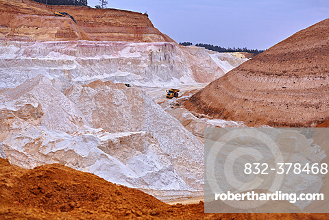 Kaolin pit, mining of kaolin, Gebenbach, Bavaria, Germany, Europe