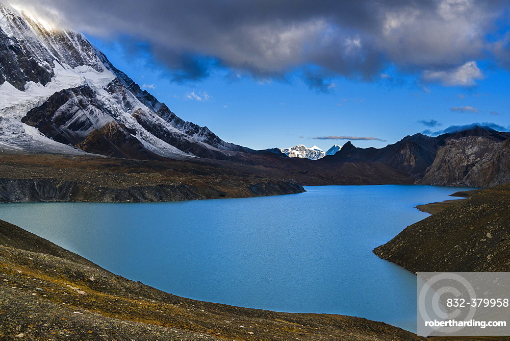 Tilicho Lake in the mountains, Manang, Manang District, Nepal, Asia
