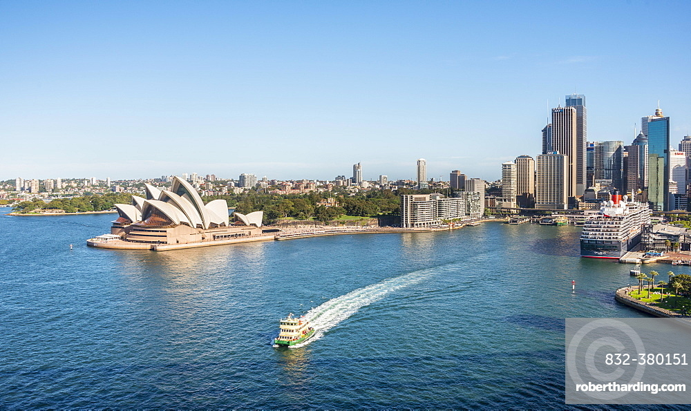 Circular Quay and The Rocks, skyline with Sydney Opera House, Financial District, banking district, Sydney, New South Wales, Australia, Oceania