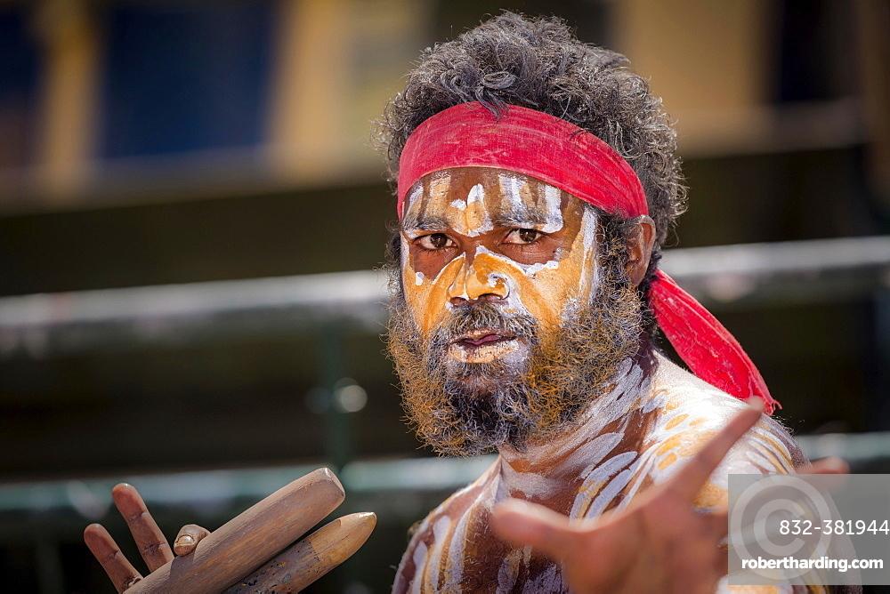 Aboriginal Australian dancer, Sydney, Australia, Oceania