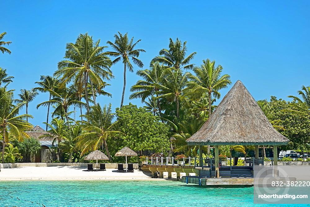 Bungalow on the beach, Bora Bora, French Polynesia, Oceania