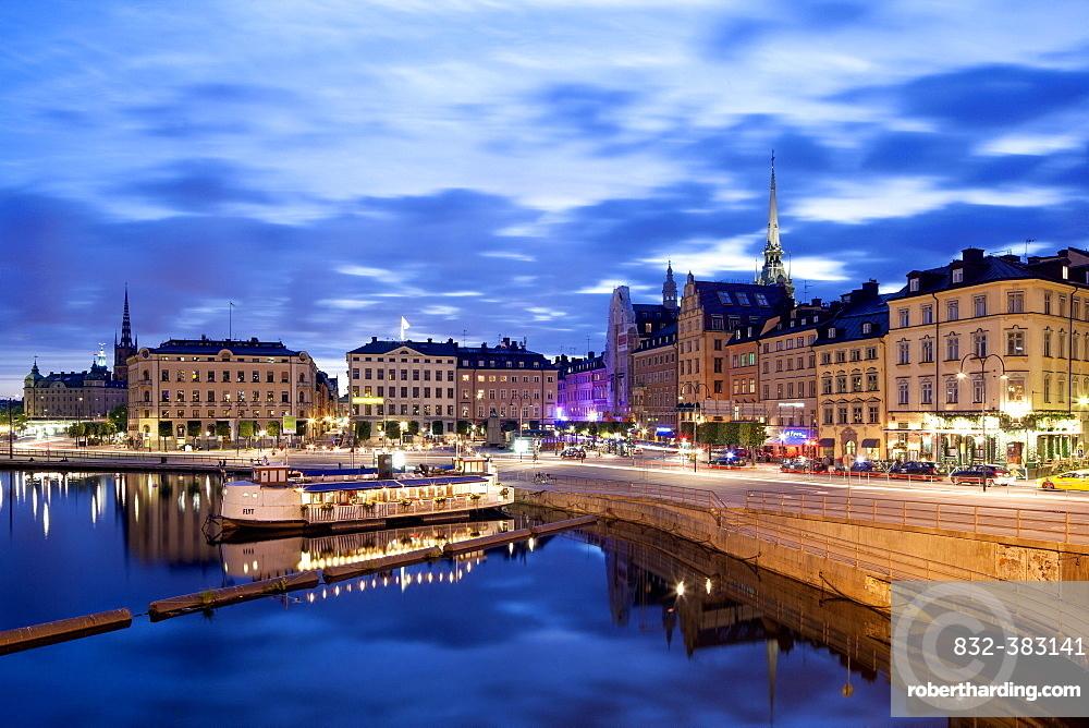 Slussplan, lock square, Kornhamnstorg, Grain Harbour Square, historic centre, Gamla Stan, Stockholm, Stockholm County, Sweden, Europe