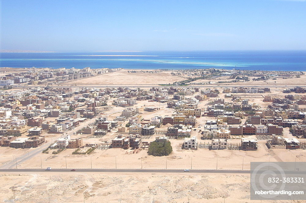 Aerial view, Hurghada, Red Sea Governorate, Egypt, Africa