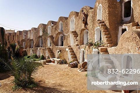 Ksar Berber village with ghofas, storerooms, open-air museum in Medenine, Tunisia, Maghreb region, North Africa, Africa