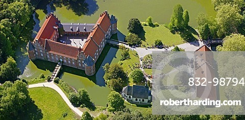 Aerial picture, open air church   Stock Photo