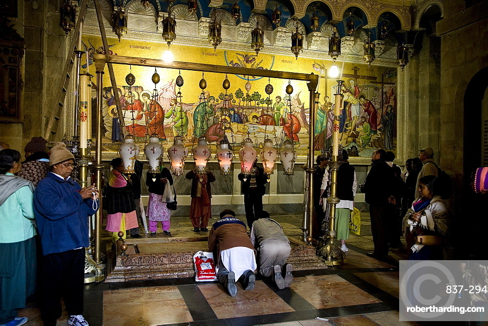 church of the Holy Sepulchre in the old city of Jerusalem, Israel