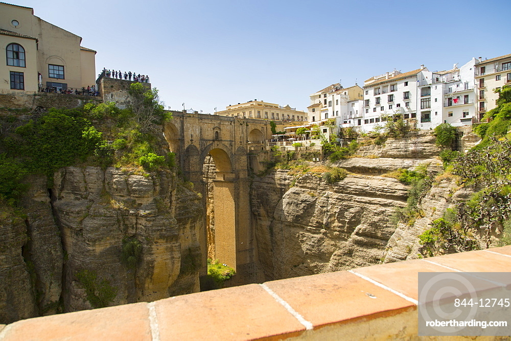 View of ronda and puente stock photo for Jardines de cuenca ronda