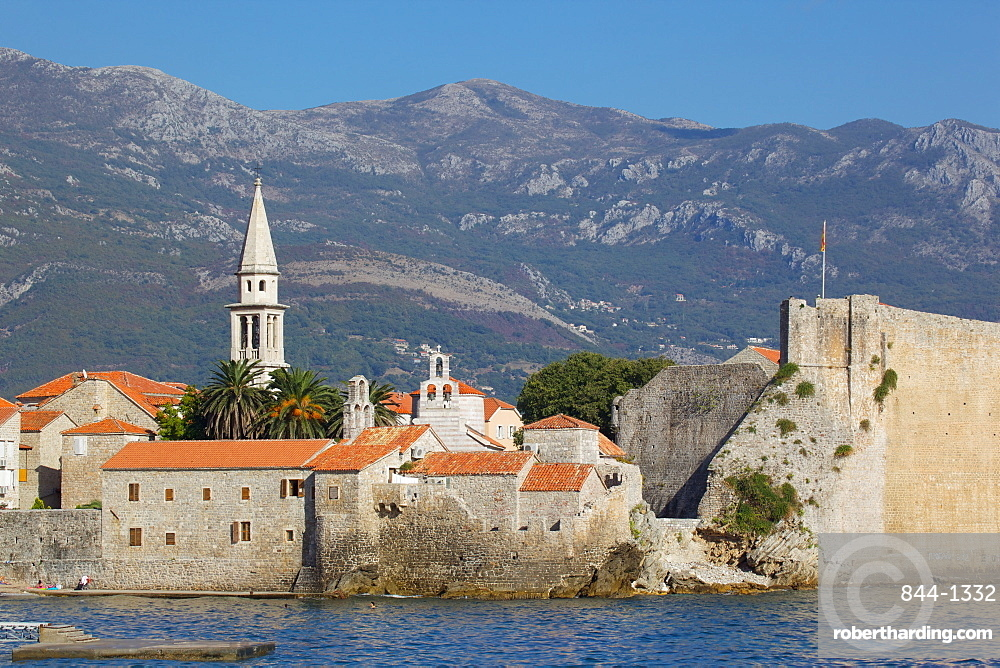 View of Old Town, Budva, Montenegro, Europe