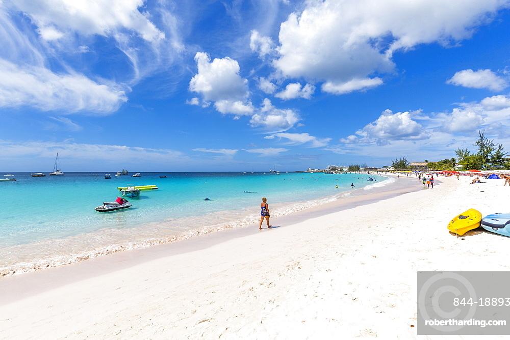 View of Carlisle Beach, Bridgetown, Barbados, West Indies, Caribbean, Central America
