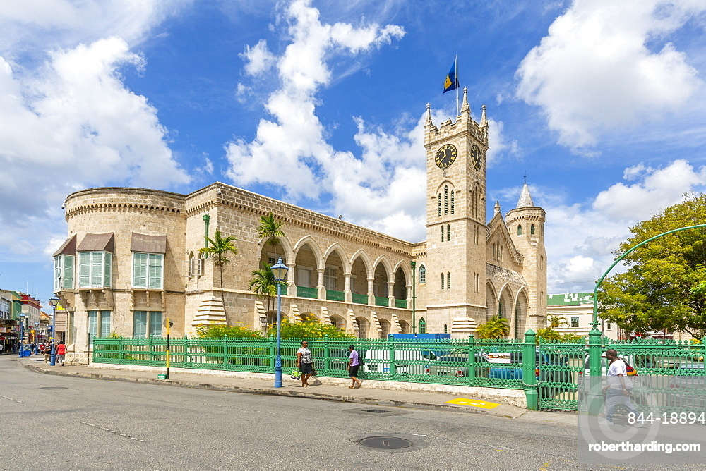 View of Parliament Building, Bridgetown, Barbados, West Indies, Caribbean, Central America