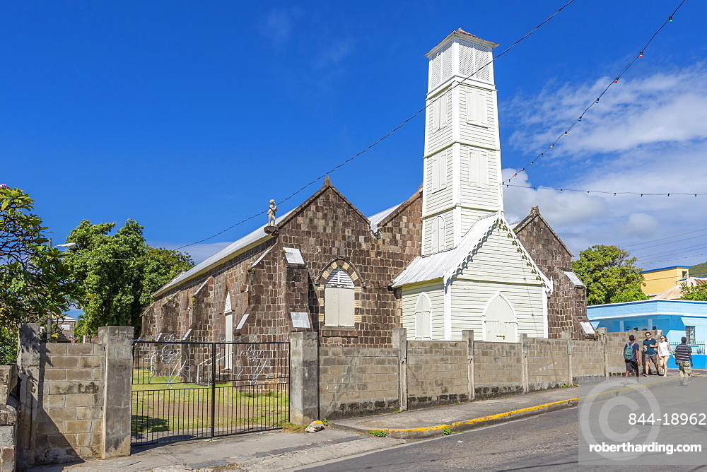 View of Wesley Methodist Church, Basseterre, St Kitts & Nevis, West Indies, Caribben, Central America