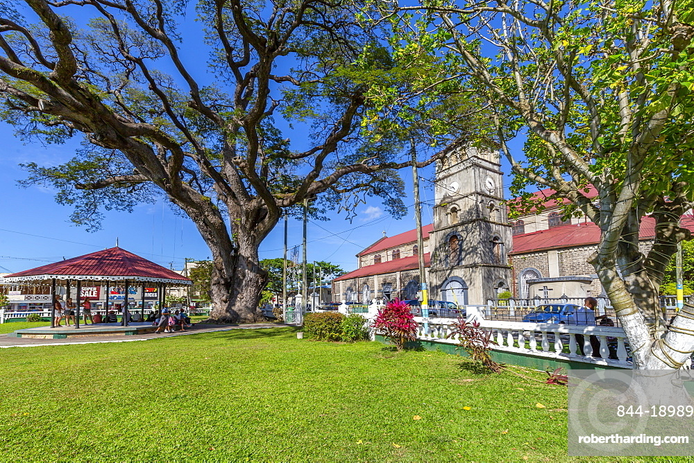 View of Cathedral Basilica of the Immaculate Conception, Castries, St. Lucia, Windward Islands, West Indies Caribbean, Central America