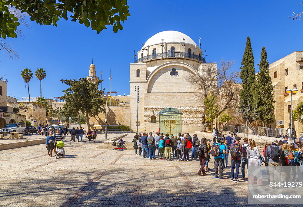 Hurva Synagogue in Old City, Old City, UNESCO World Heritage Site, Jerusalem, Israel, Middle Eas