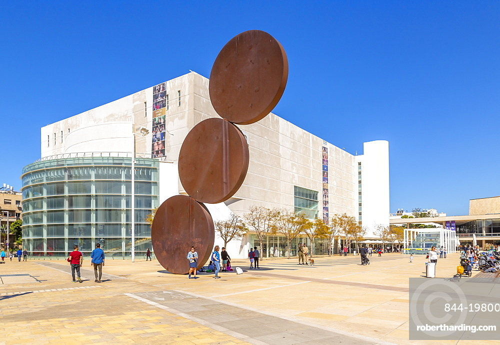 View of Habima Theatre and Habima Square, Tel Aviv, Israel, Middle East