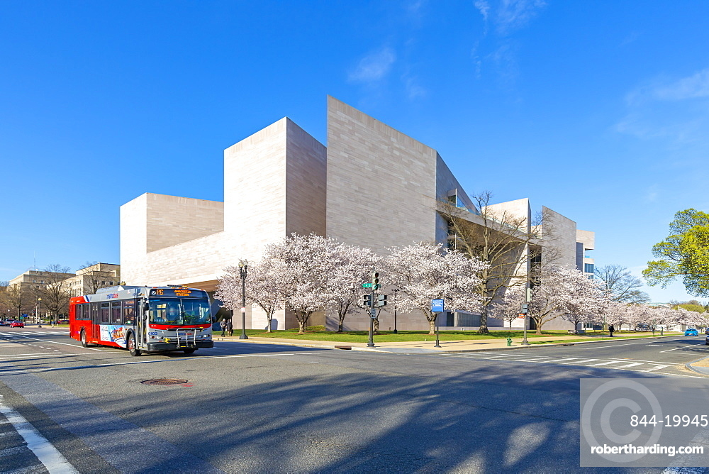 View of National Gallery of Art - East Building on the National Mall in spring, Washington D.C., United States of America, North America