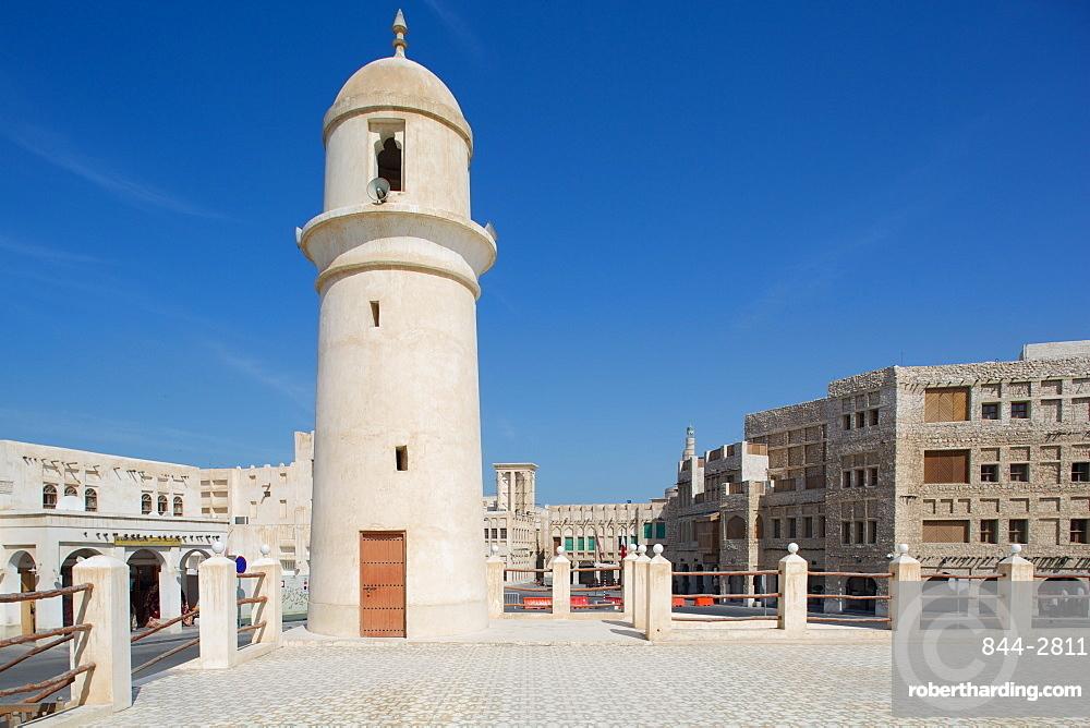 Minaret near Waqif Souq, Doha, Qatar, Middle East