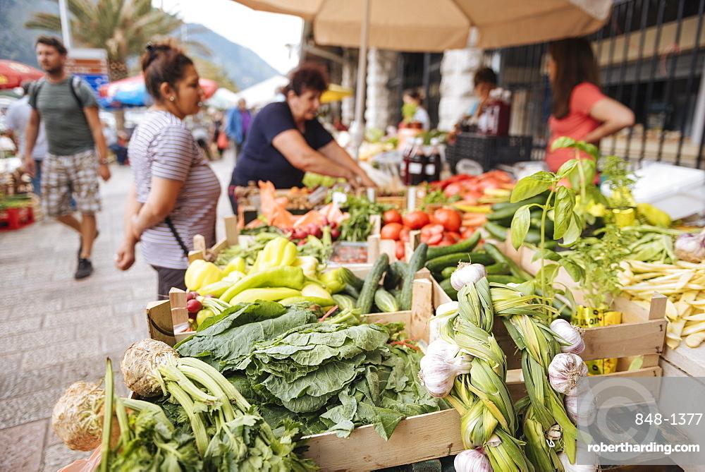 Market, Kotor, Bay of Kotor, Montenegro, Europe