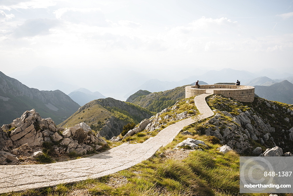 View from Njegos Mausoleum, Lovcen National Park, Montenegro, Europe