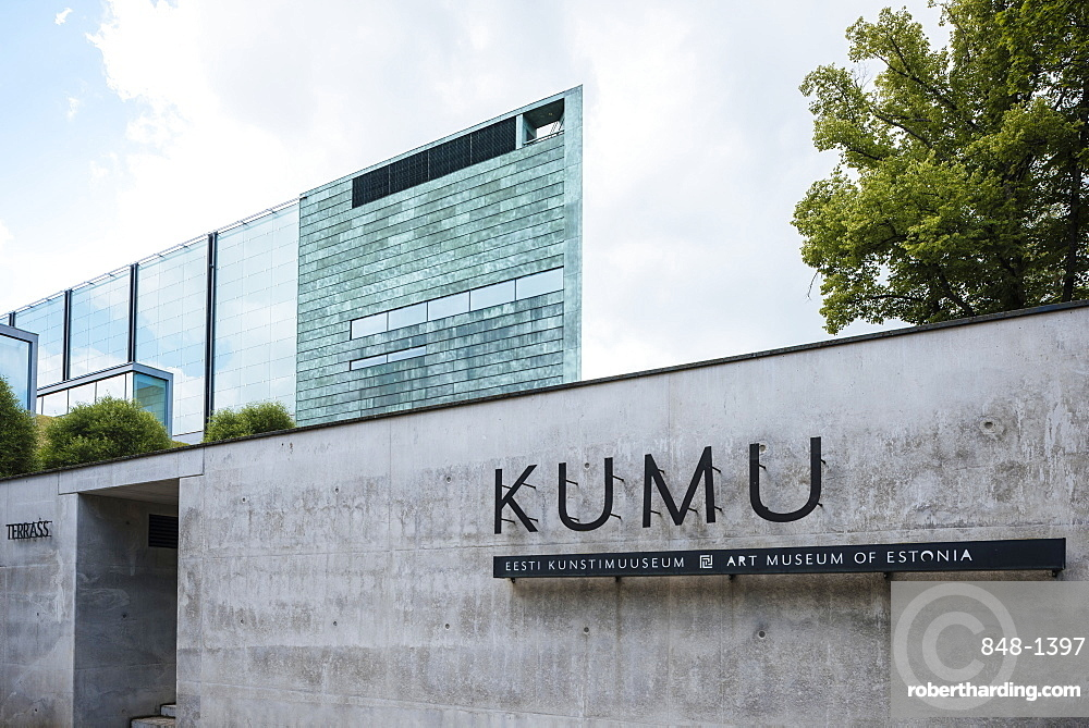 Exterior of KUMU Art museum of Estonia, Tallinn, Estonia, Europe