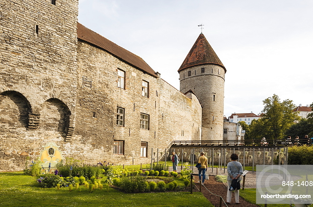 The Old City walls, Old Town, Tallinn, Estonia, Europe