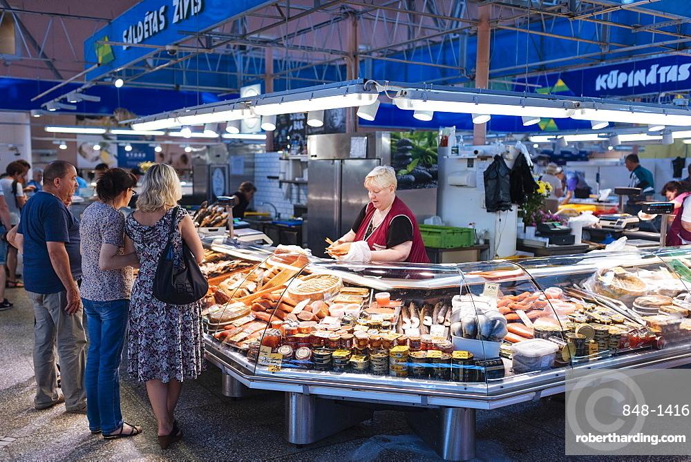 Fishmongers, Riga Central Market, Riga, Latvia, Baltic States, Europe