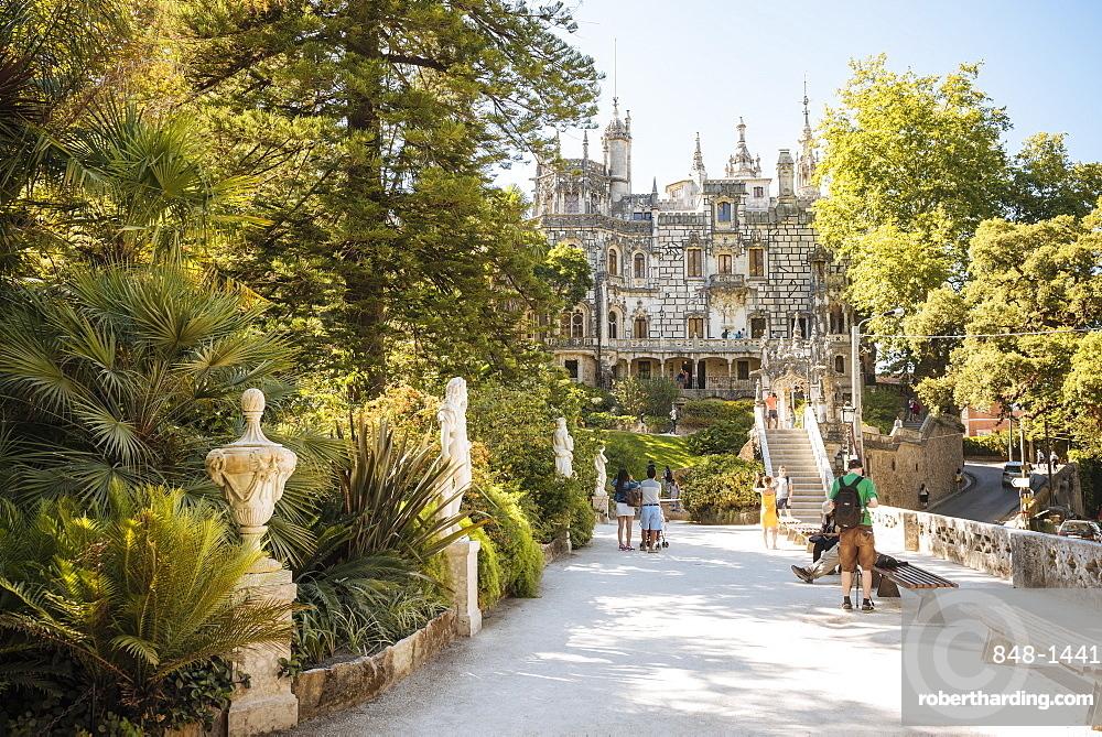 Exterior of Palacio da Regaleira, Quinta da Regaleira, UNESCO World Heritage Site, Sintra, Portugal, Europe