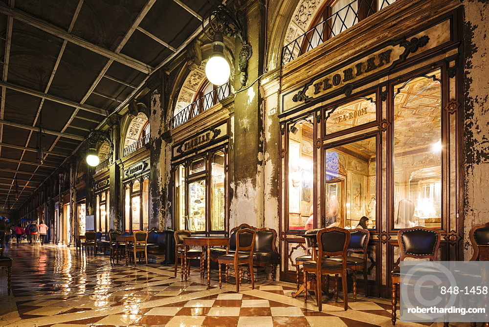 Florian Cafe, St. Mark's Square, Venice, UNESCO World Heritage Site, Veneto Province, Italy, Europe