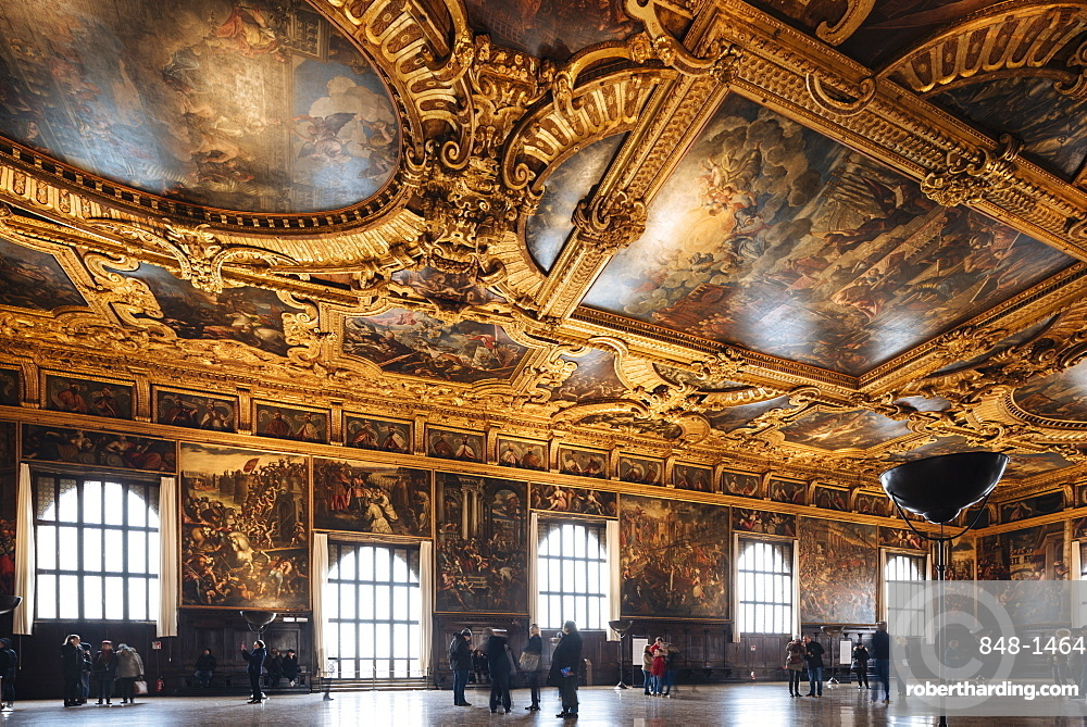 Interior of The Doge's Palace (Palazzo Ducale), Venice, UNESCO World Heritage Site, Veneto Province, Italy, Europe