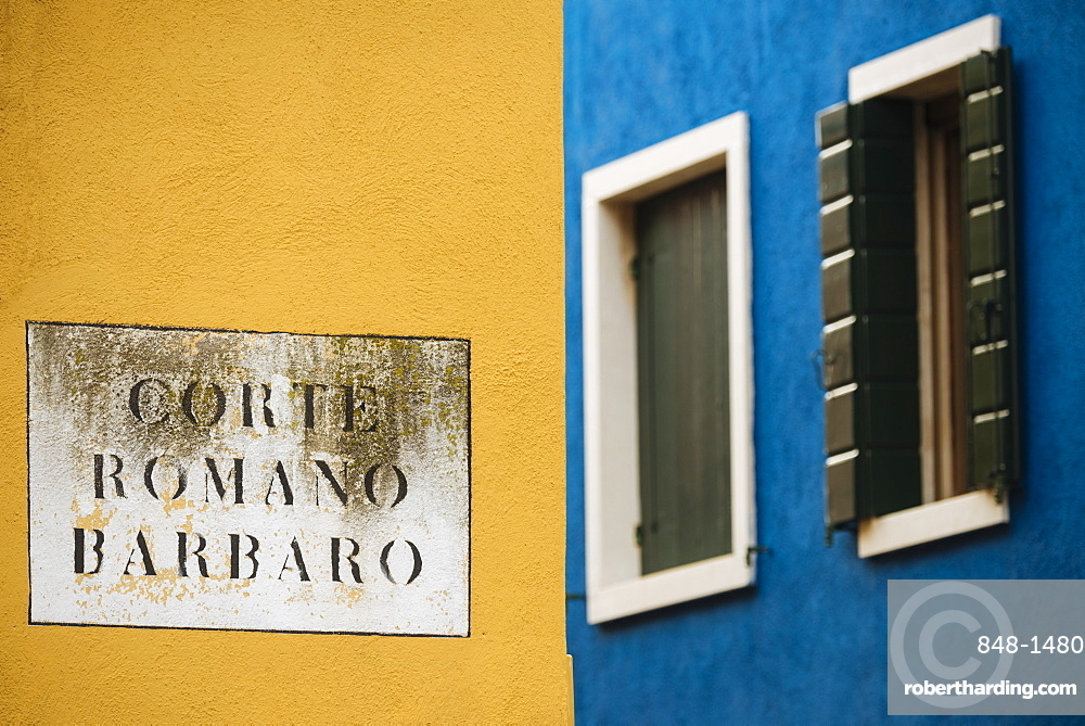 Exterior facades of colourful buildings, Burano, Venice, UNESCO World Heritage Site, Veneto Province, Italy, Europe