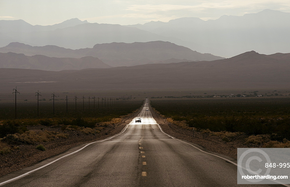 Highway 190 through Death Valley National Park, California, United States of America, North America