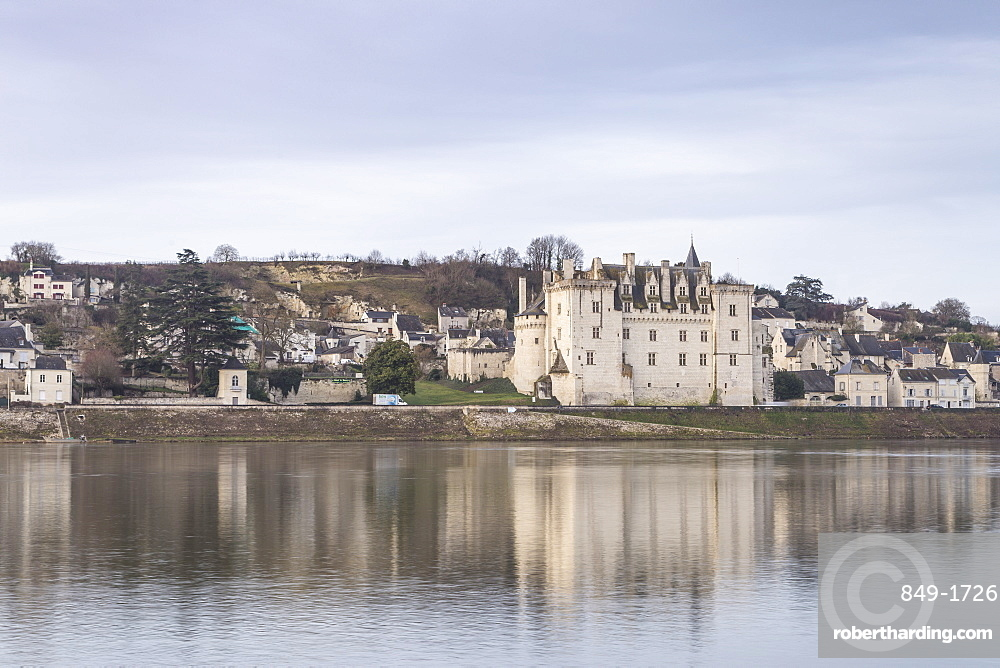 The village and Chateau of Montsoreau, UNESCO World Heritage Site, Loire Valley, Maine et Loire, France, Europe