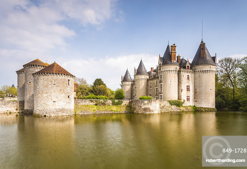 Chateau de Bourg-Archambault in central France which dates from the 15th century, Vienne, France, Europe