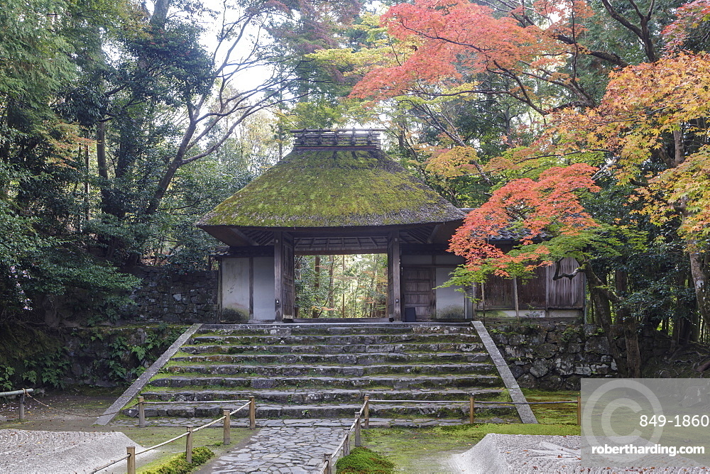 Autumn color in Honen-in temple, a Buddhist temple located on the Philosopher's Walk, Kyoto, Japan, Asia