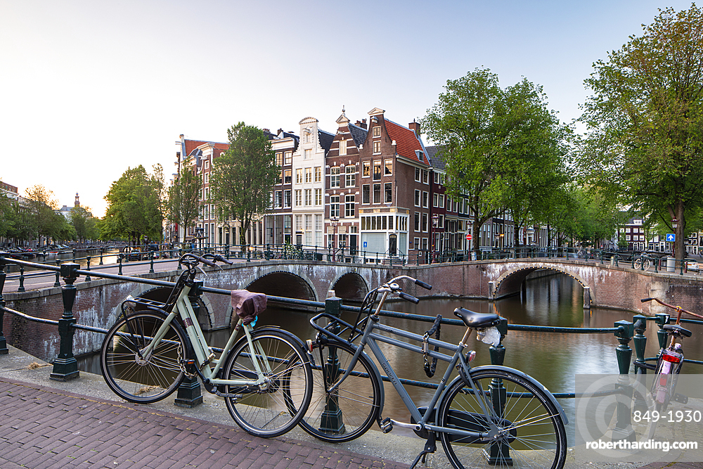 The Keizersgracht canal in Amsterdam, Netherlands.