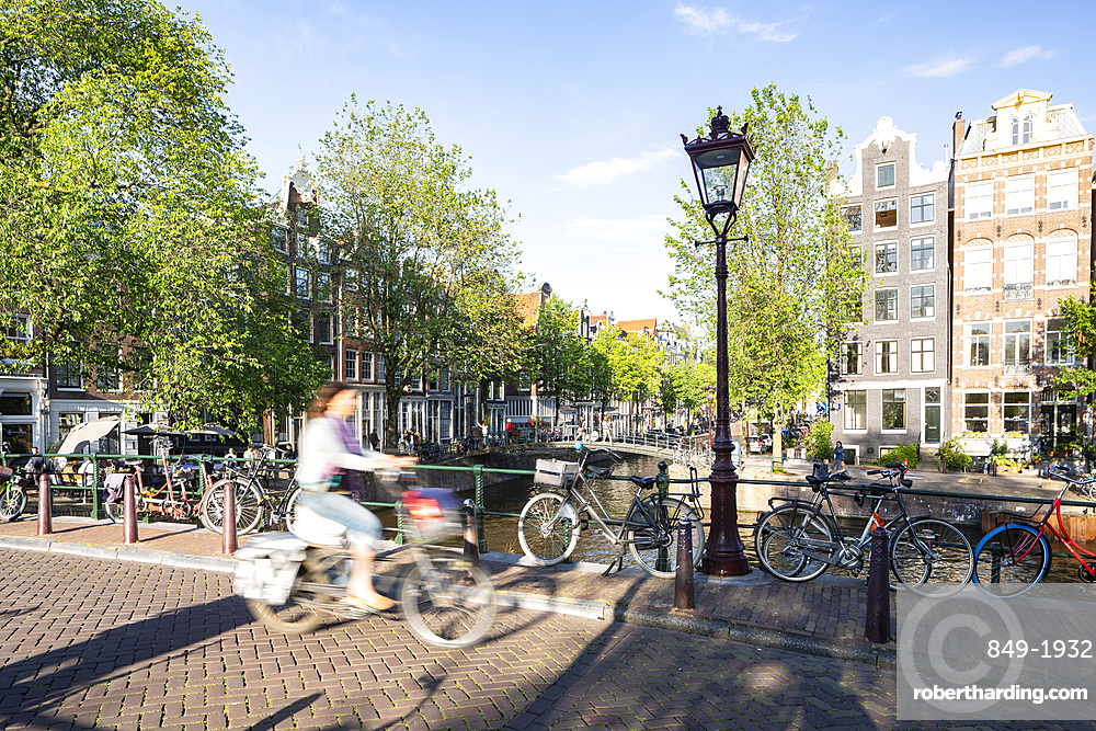 The Herengracht Canal in Amsterdam, North Holland, The Netherlands, Europe