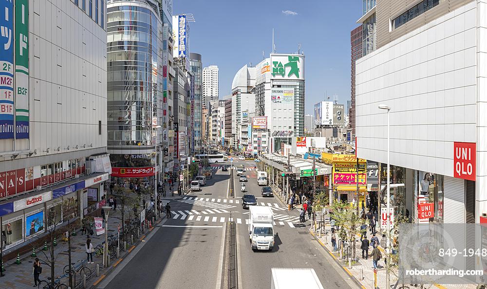 Panoramic of the Shinjuku area of Tokyo, Japan, Asia