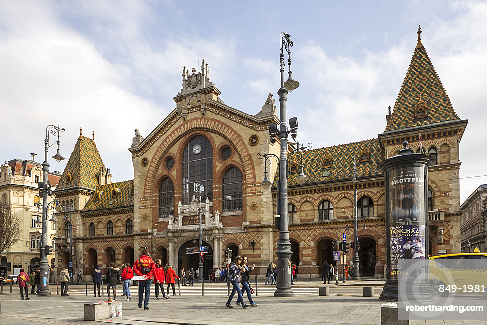 The Great Market Hall in Budapest, Hungary, Europe