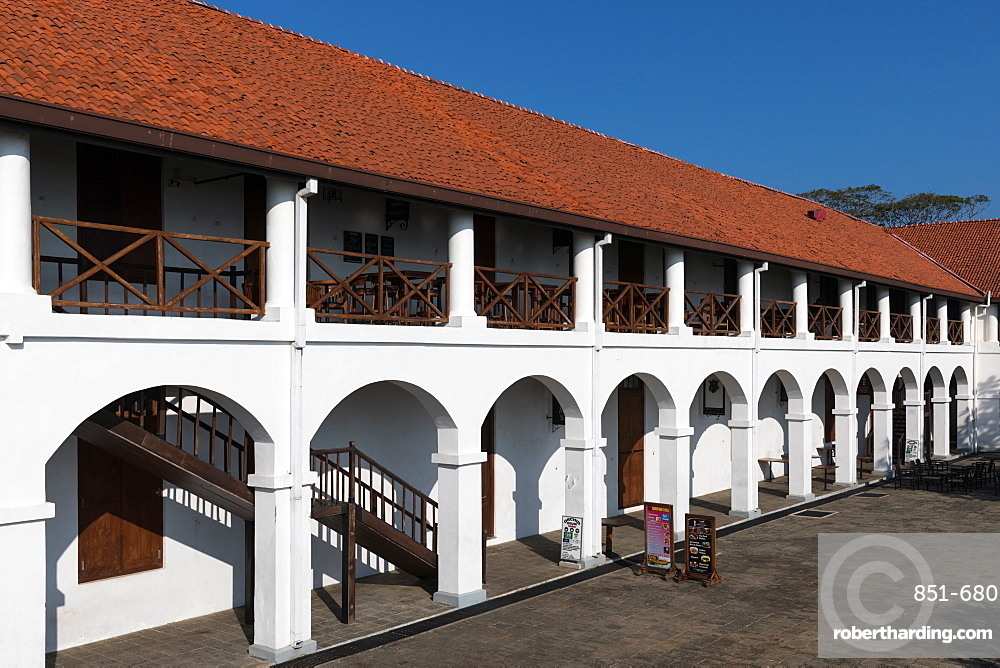 The Old Hospital building, now a new shopping complex in Galle Fort, Sri Lanka, Asia