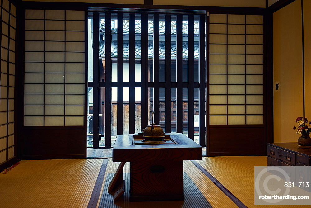 Koshi-no-Ie Residence (Naramachi Lattic House) is a former merchant home, now a public museum in Nara, Honshu, Japan, Asia