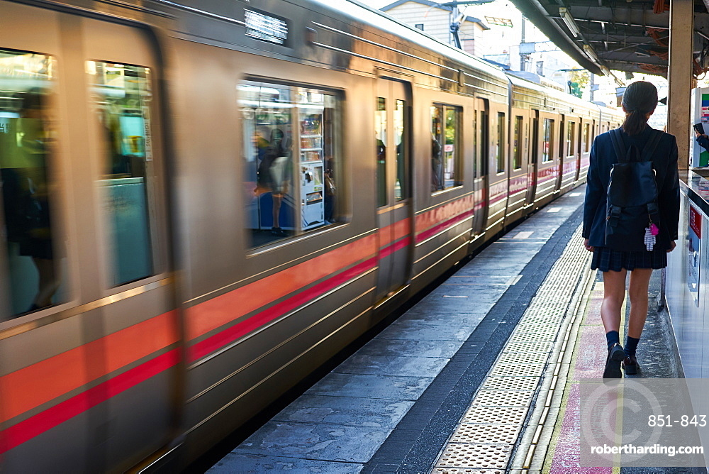 Subway train station in Tokyo, Japan, Asia