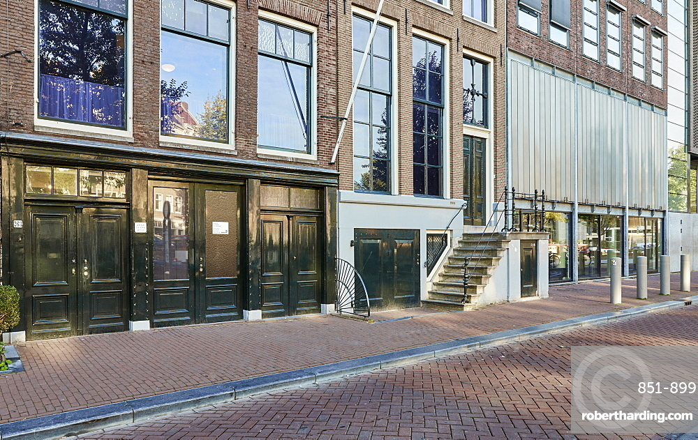 Anne Frank House & museum in Amsterdam, Netherlands.