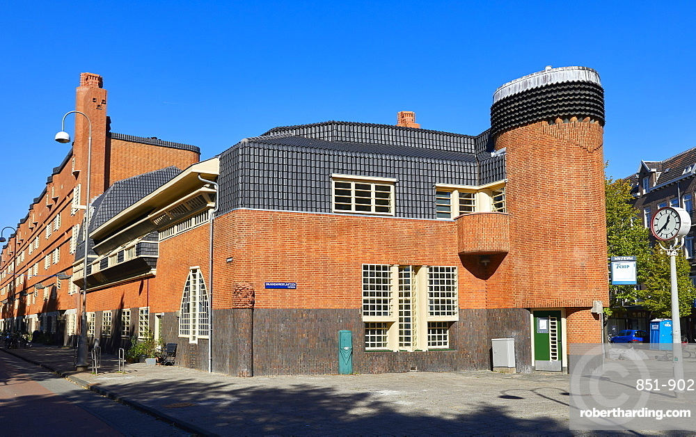 Het Schip, a 1920s social housing complex by Michel de Klerk, now a museum about the Amsterdam School architecture movement.