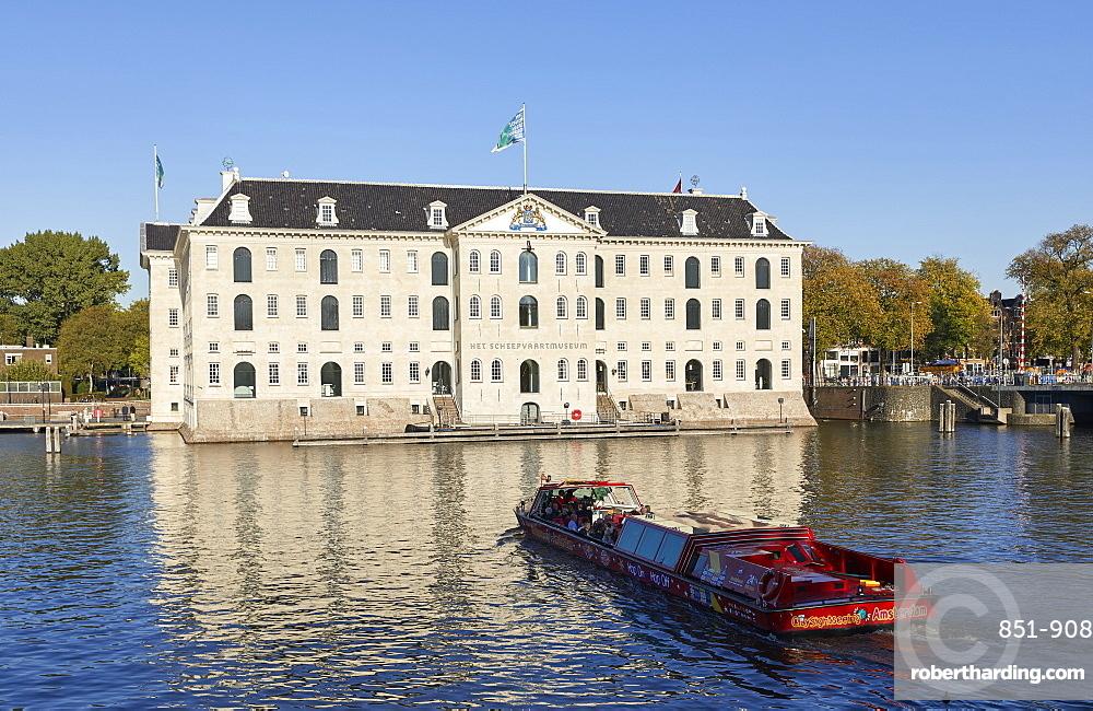Het Scheepvaartmuseum, the National Maritime museum in Amsterdam, Netherlands.