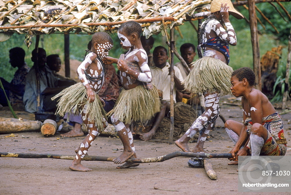 Pygmee mentruation dance, Republic of Congo (formerly Zaire) Ituri Forest.