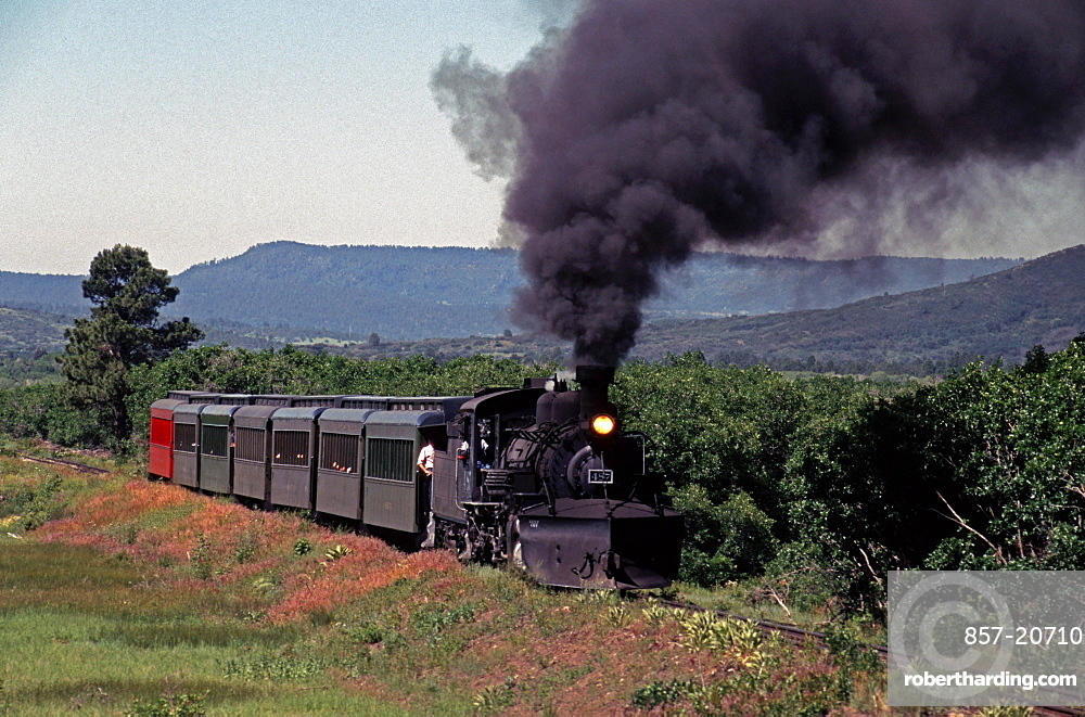 The Cumbres & Toltec Scenic Railroad travels between New Mexico and Colorado.