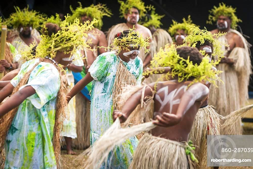 Kanak traditional dance, Cultural festival. Common Poya. New Caledonia.