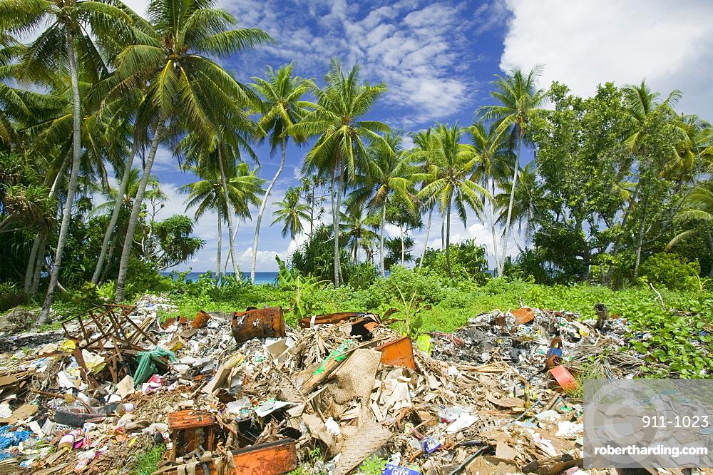 Rubbish on Funafuti Atoll, Tuvalu, Pacific