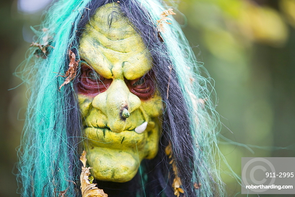 The Halloween trail at Thorp Perrow Arboretum in Yorkshire, England, United Kingdom, Europe