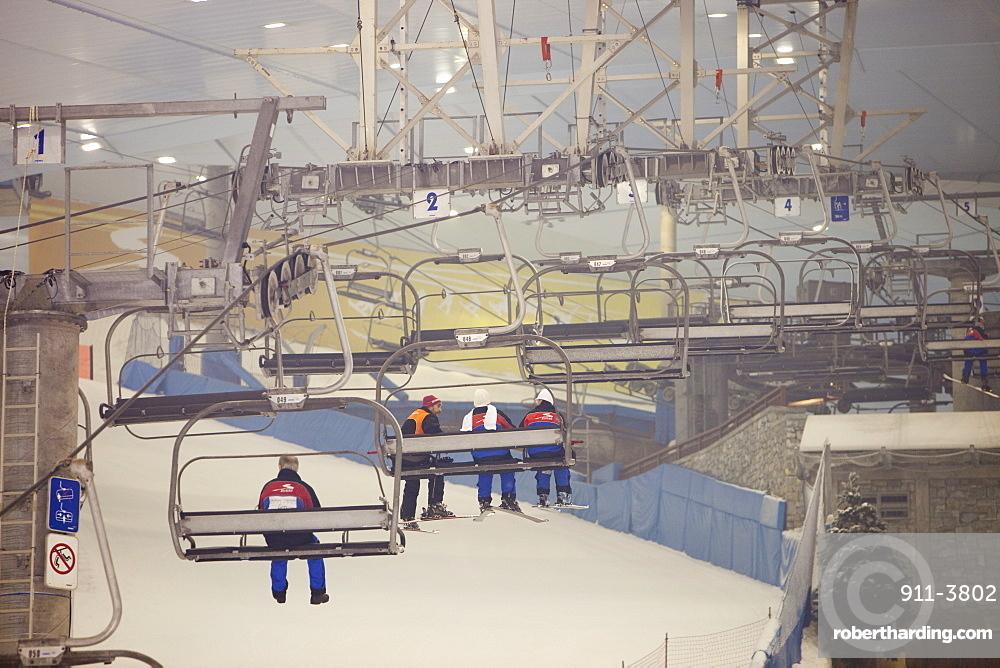 Inside the Ski Dubai complex, | Stock Photo