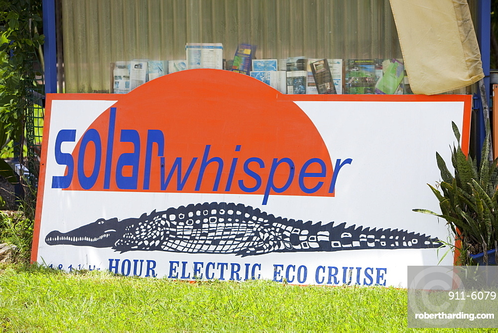 Solar powered wildlife cruise on the Daintree River, Queensland, Australia, Pacific